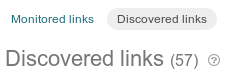 Discovered links