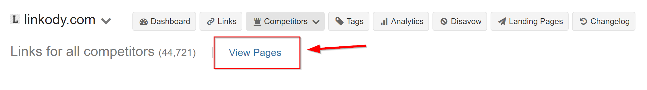 all competitors backlinks