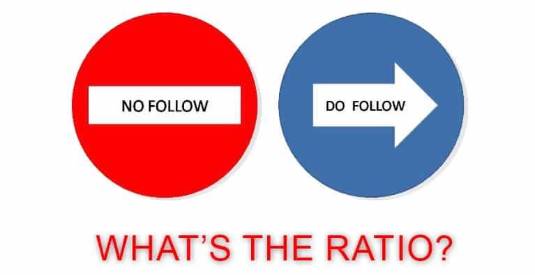 do follow no follow ratio