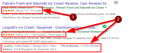 How Rich Snippets look like