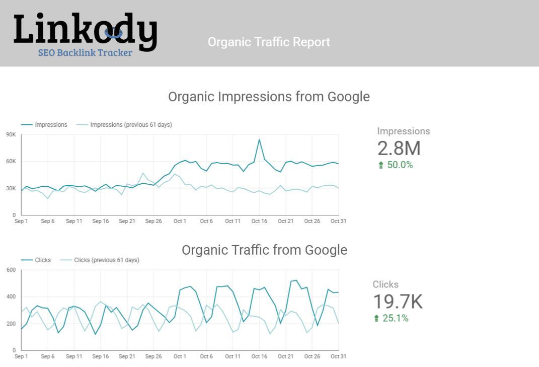 Organic Traffic Report