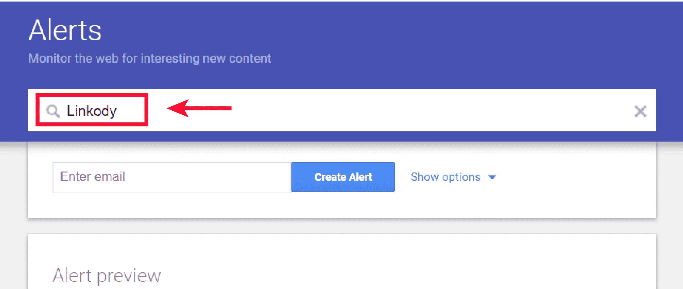 seo clients - google alerts step 2
