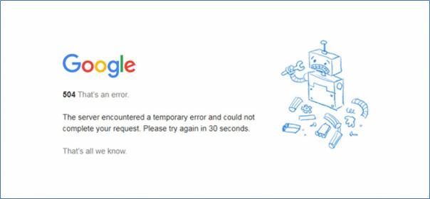 504 server error
