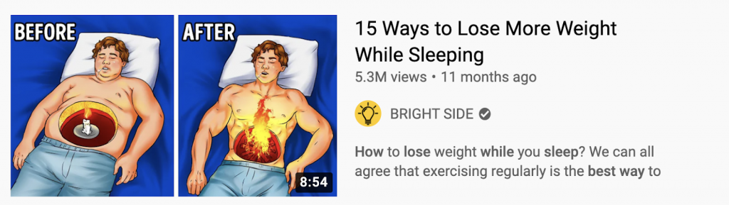 Youtube title example